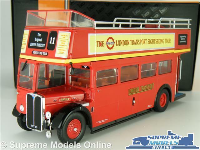 AEC REGENT RT LONDON TRANSPORT MODEL BUS 1:43 SCALE RED IXO SIGHTSEEING OPEN K8