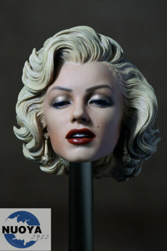 1:6 Scale Marilyn Monroe Head Sculpt Painted For 1//6 Female Phicen Figure Body