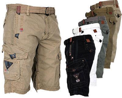 Geographical Norway Men's Cargo Shorts Short Pants Short Bermuda Summer Knee Length | eBay