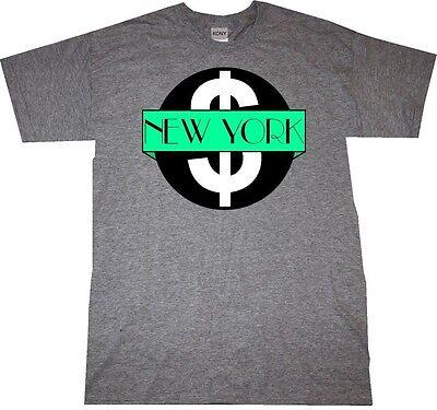 Kings Of NY Mint Money New York Logo Short Sleeve Graphic Tee T-Shirt Black Red