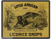 1901 African Licorice Drops Sign Refrigerator Magnet Advertising