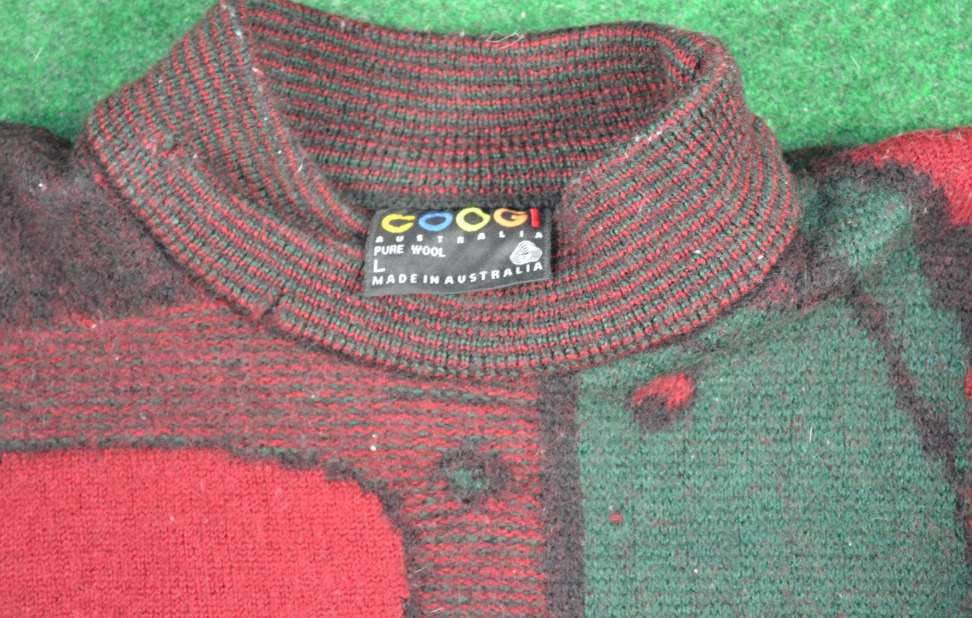 Rare 80s Coogi Faces Wool Sweater Pullover Gucci … - image 3