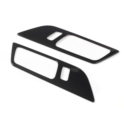 Carbon Fiber Car Door Handle Frame Trim Cover For Ford Mustang 15-19 Accessories