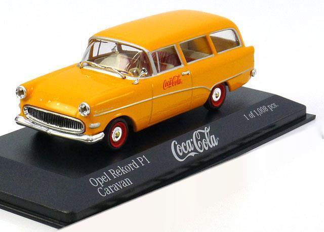 OPEL REKORD P1 CARAVAN 1958 COCA COLA MINICHAMPS 430043270  giallo rosso