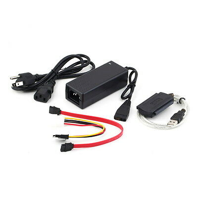 USB 2.0 to IDE SATA S-ATA 2.5 3.5 HD HDD Hard Drive Adapter Converter Cable FT