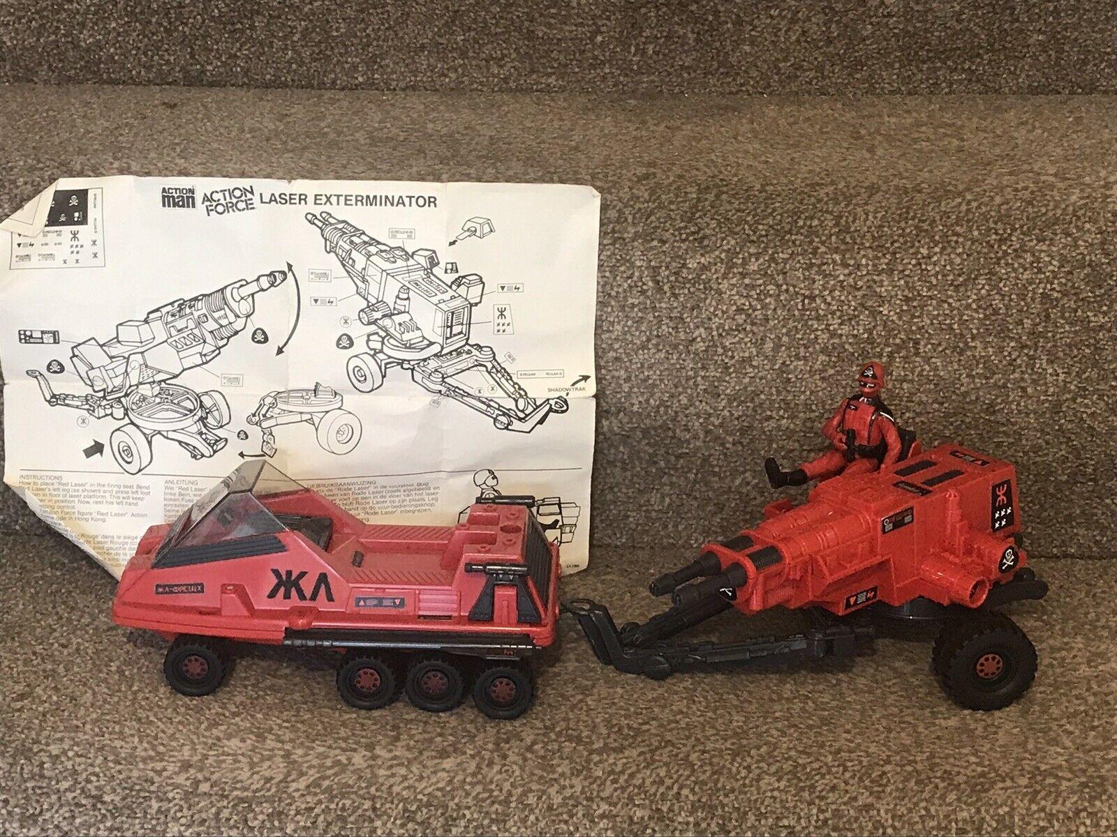 Gi Joe Rojo Sombras láser Exterminador Pistola fuerza de acción de vehículos de láser rojo vintage