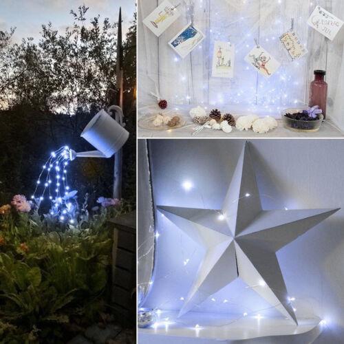 Solar Powered LED Copper Wire Light String Fairy Xmas Outdoor Garden Party Decor