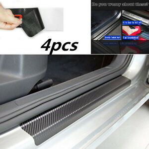 4x-Anti-Kick-4D-Carbon-Fiber-Car-Accessories-Door-Sill-Scuff-Protector-Stickers