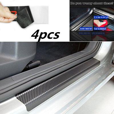 4x Carbon Fiber Look Car Door Sill Scuff Threshold Protector Sticker Accessories