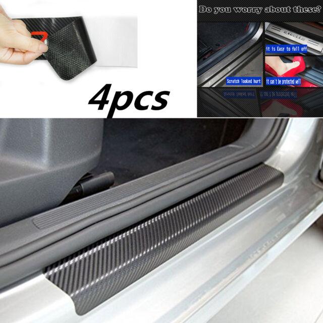 4x Anti-kick front+rear door sill scuff cover Car Door Plate Protect Car Sticker