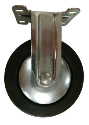 """125 mm 5/"""" Caoutchouc fixes roulettes chariot Furniture Caster"""
