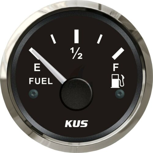 KUS Fuel Level Gauge Boat Marine Fuel Tank Level Indicator 52mm 240-33 ohms
