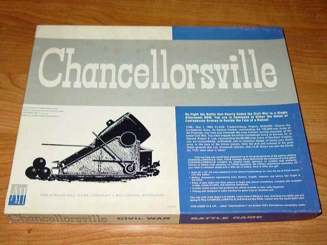 Avalon Hill CHANCELLORSVILLE Game - American Civil War (UNPUNCHED) - 2nd Edition