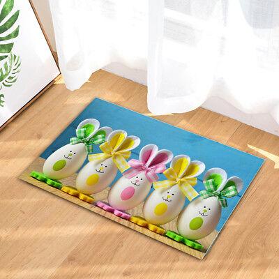 Funny Easter Egg Bunny Non Slip Bathroom Bedroom Shower Mat Floor Rug Carpet Ebay