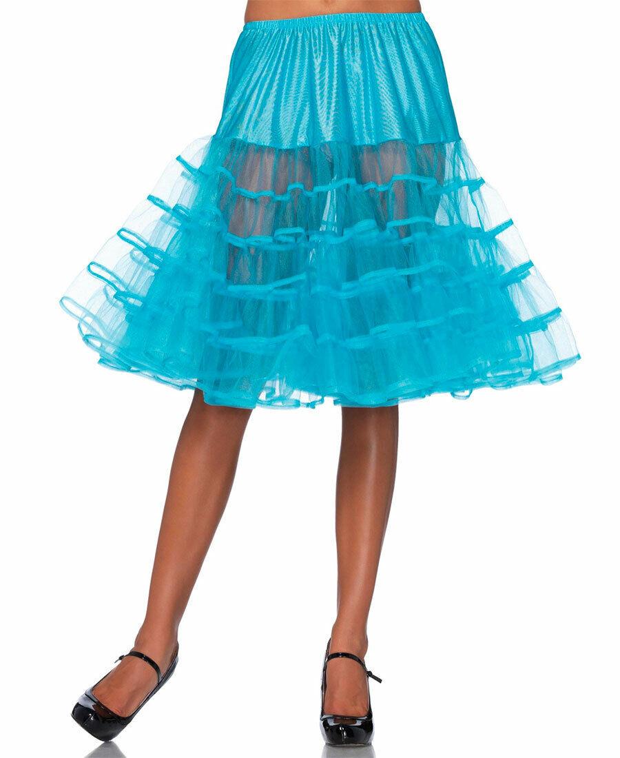 New Leg Avenue 83043 Turquoise Knee Length Petticoat