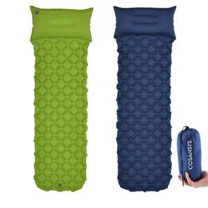Inflating-Mat-Outdoor-Tent-Sleeping-Pad-Hiking-Pillow-Air-Mattress-Camping-Car