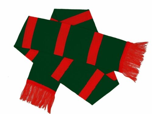 New Men Ladies Women Unisex Red//Green Striped Scarf-Xmas Party-Fancy Dress