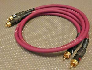 2x Burmester Chinch (RCA) Kabel 60 cm lila 3
