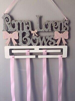 Hair Bow Holder cheer bow bow organizer hair accessories storage wall display