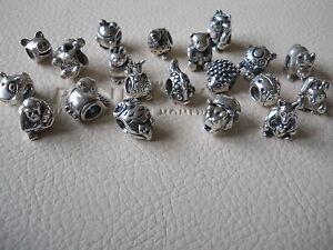 Genuine Pandora Sterling Silver Animal Charms