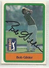 Bob Gilder Signed autographed Golf Card Donruss PGA