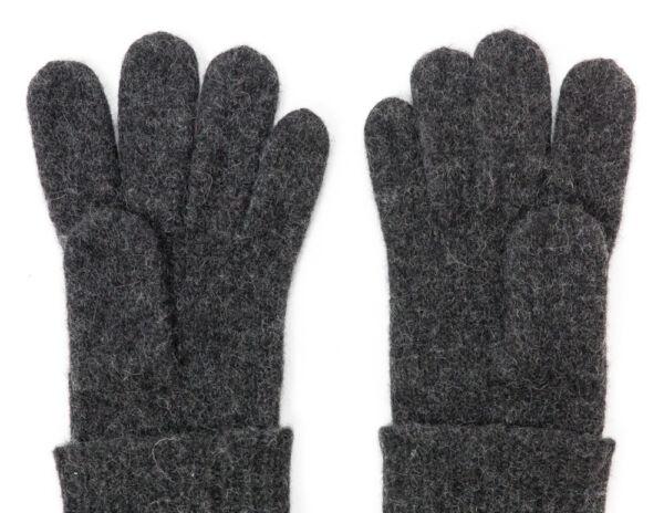 100% Lana Cotta Con Risvolto Guanti Neri Da Dachstein Woolwear Da Austria