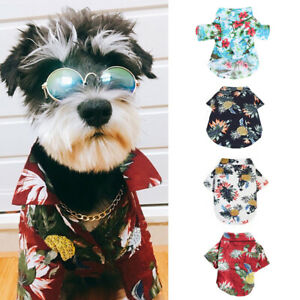 Pet-Dog-Hawaiian-Shirt-Beach-Clothes-Vest-Floral-Printed-For-Small-Large-Dog-h8