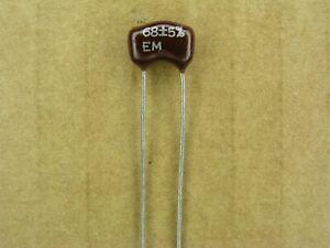 2 /% silver mica capacitor S01029-296 5 Pc Lot 160 pf 500 volt 500V