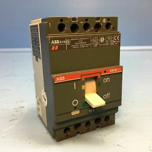 Yuco YC-50-3C Miniature Din Rail Circuit Breaker C Curve 277//480V 50//60Hz 3 Pole 50 Amp
