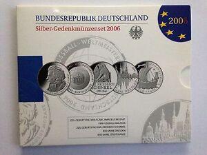 2006-BRD-Silber-Gedenkmuenzenset-Polierte-Platte-PP-Schnaeppchen