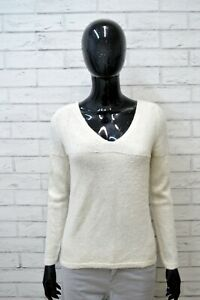 Maglione-WOOLRICH-Donna-Taglia-Size-M-Pullover-Cardigan-Sweater-Woman-Beige