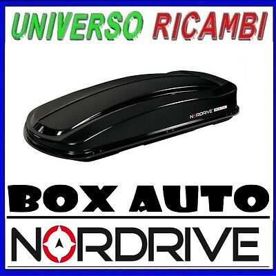430 Litri Nero Lucido Lampa N60012 Box da Tetto in ABS