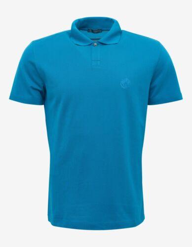 £ 340 Medusa Blu di Polo shirt T Bnwt Rrp nuova Versace Crest UwqvCn4