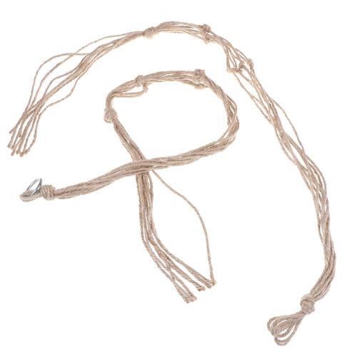 Pot holder macrame plant hanger hanging planter basket jute braided rope crTPI