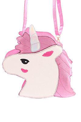 LB-61-2 Rosa Pink Unicorn Einhorn Metallic Glitzer Fairy Figur Lolita Bag Tasche