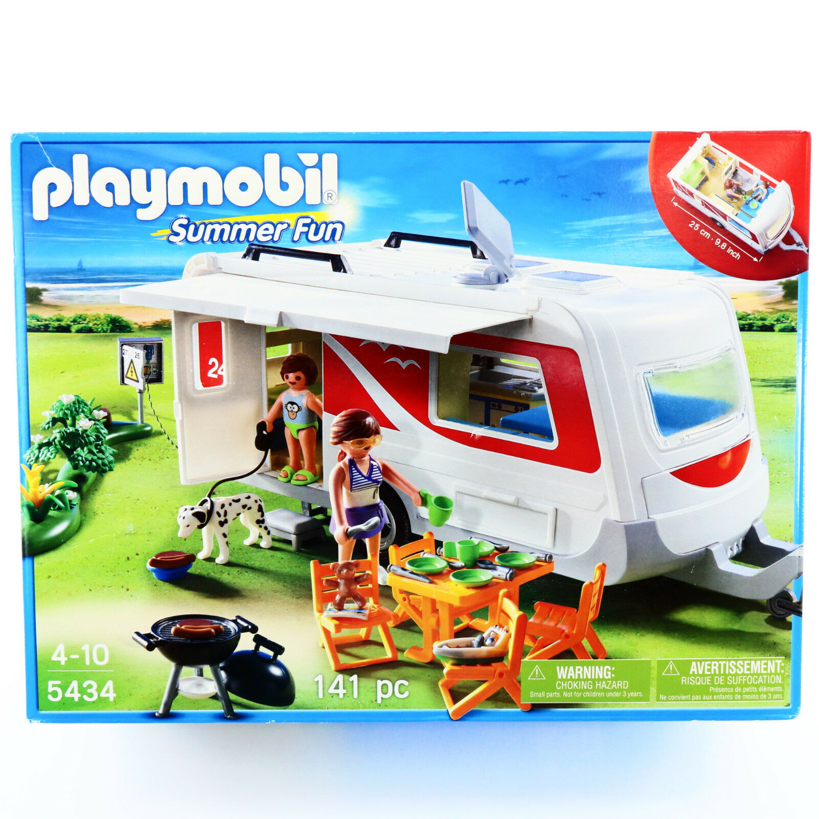 Playmobil 5434 Caravan Camper RV Family Camping Playset Toys For Boys Age 4 5 6