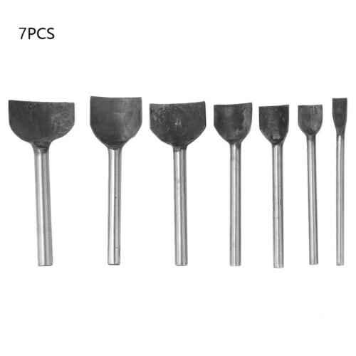 7pcs DIY Leather Craft Hole Punch Tool 1//4 Arch Semicircle Punching Tool Puncher