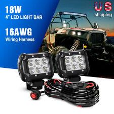 Nilight 2pcs 4 Inch 18w Spot LED Light Bars Work Lights Fog off Road on