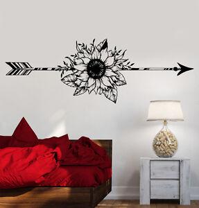 Image Is Loading Vinyl Wall Decal Arrow Flower Art Decoration Bedroom