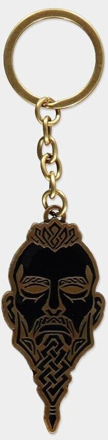 Assassin's Creed Valhalla - Face Metal Keychain Gold