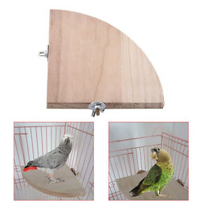 Pet-Parrot-Wooden-Platform-Stand-Rack-Hang-Toy-Hamster-Perches-For-Bird-Cage-LJ