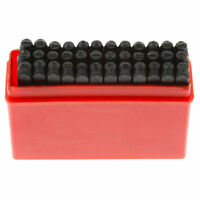 36pc Alphabet Letter & Number Steel Stamp Die Punch Stamp 1/8 Tool Set-3mm