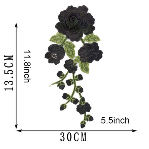 Blossom Flower Applique Clothing Embroidery Patch Sticker DIY Iron On Sew Cloth