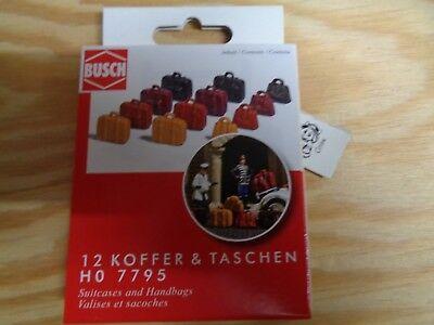 Busch 7795 Mini Set 12 Koffer und Taschen H0 Neu