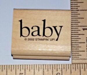 034-Baby-034-Newborn-Stampin-Up-Wood-amp-Foam-Rubber-Stamp