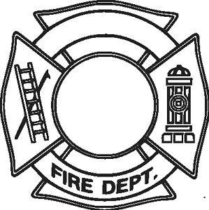 fire department logo add your station vinyl decal your color rh ebay com fire dept logo vector fire dept logo template