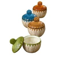 453120 Soup Tureen Covered Bowl Set/4 Kitchen Harvest Thanksgiving Indian Summer