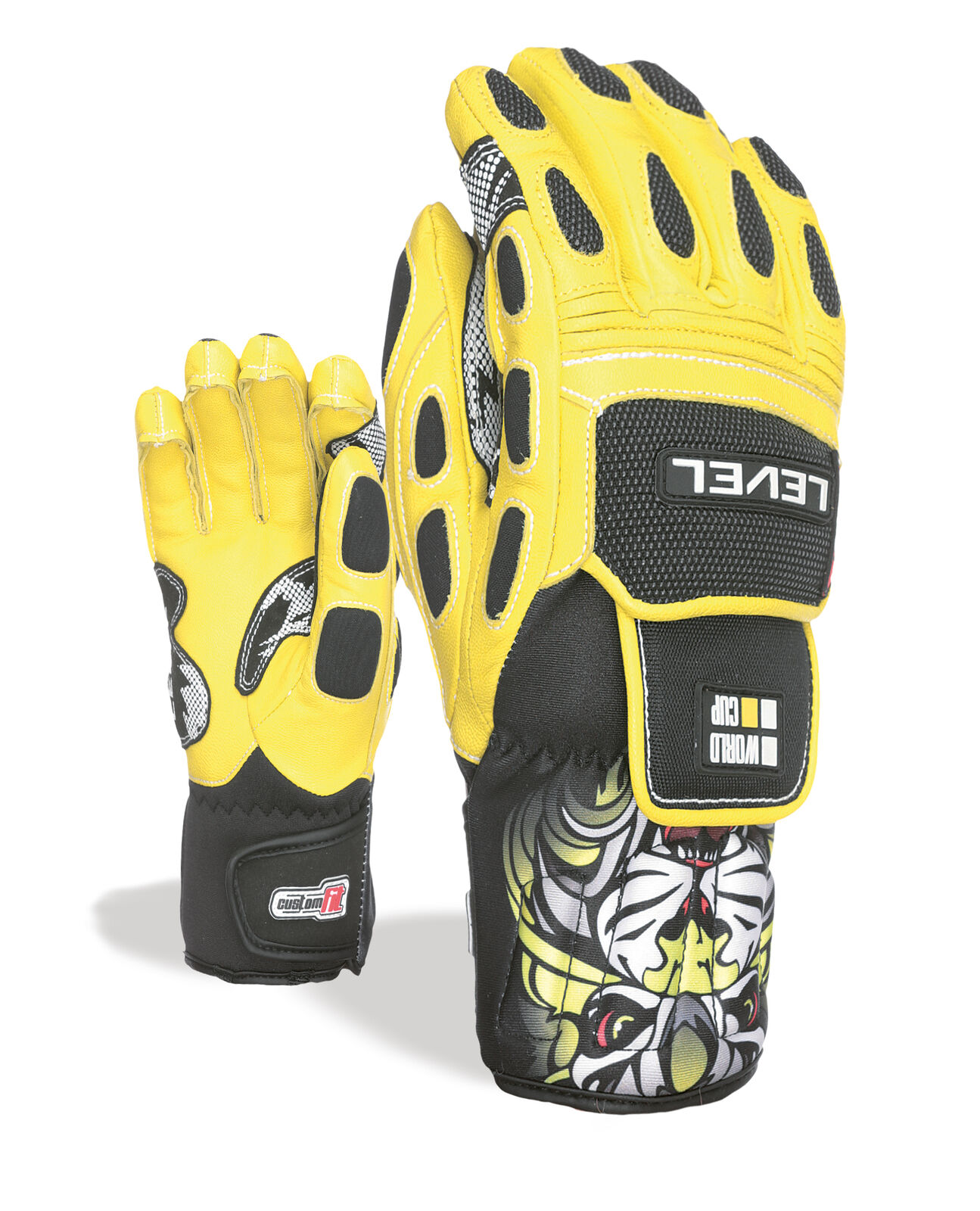Level Guantes Worldcup Jr Cf Amarillo Impermeable Transpirable Cálidos