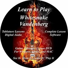 Whitesnake Vandenberg Guitar TAB Lesson Software CD 72 Songs!