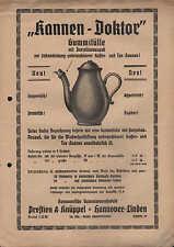 HANNOVER-LINDEN, Werbung um 1930 f. Kannen-Doktor Gummitülle, Prestien & Knüppel